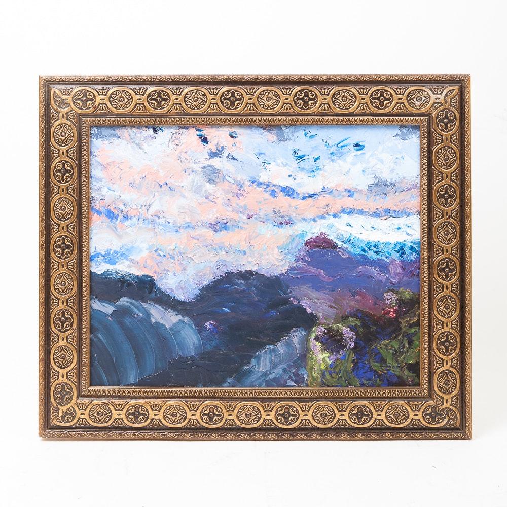 Impressionist Oil on Canvas Painting