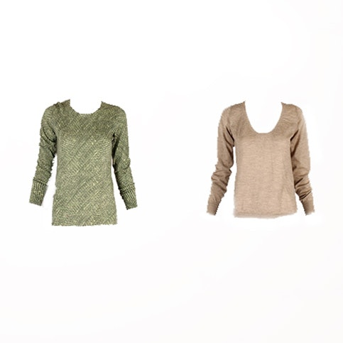 Two Marni Lightweight Cashmere Sweaters