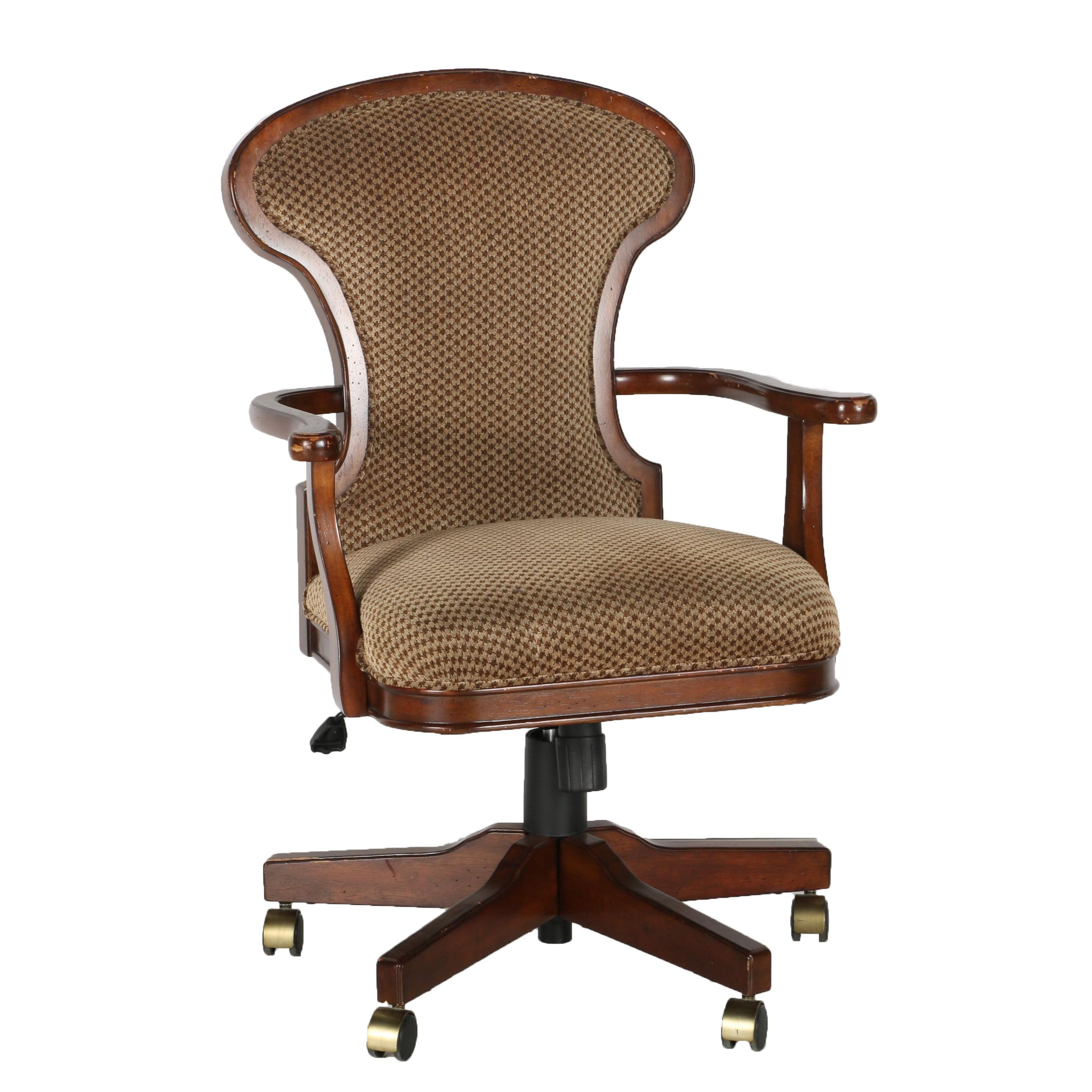 bombay upholstered wood office chair : ebth