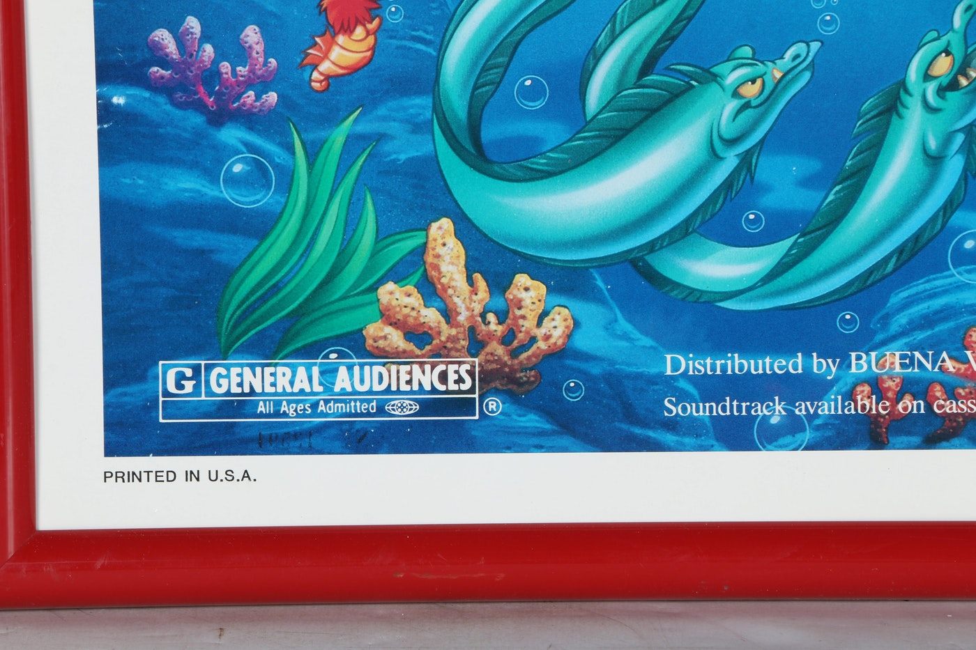 "Original ""The Little Mermaid"" Movie Release Poster   EBTH"