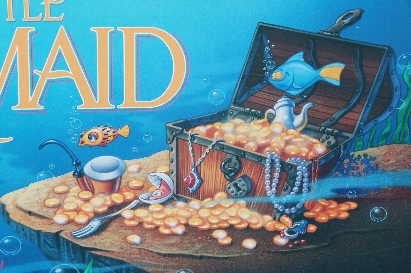 "Original ""The Little Mermaid"" Movie Release Poster : EBTH"