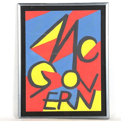 "Alexander Calder Signed Artist Proof Lithograph ""McGovern"""
