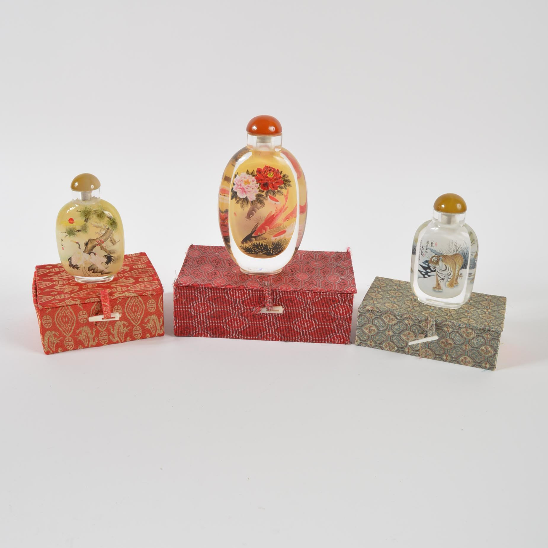 Group of Glass Snuff Bottles