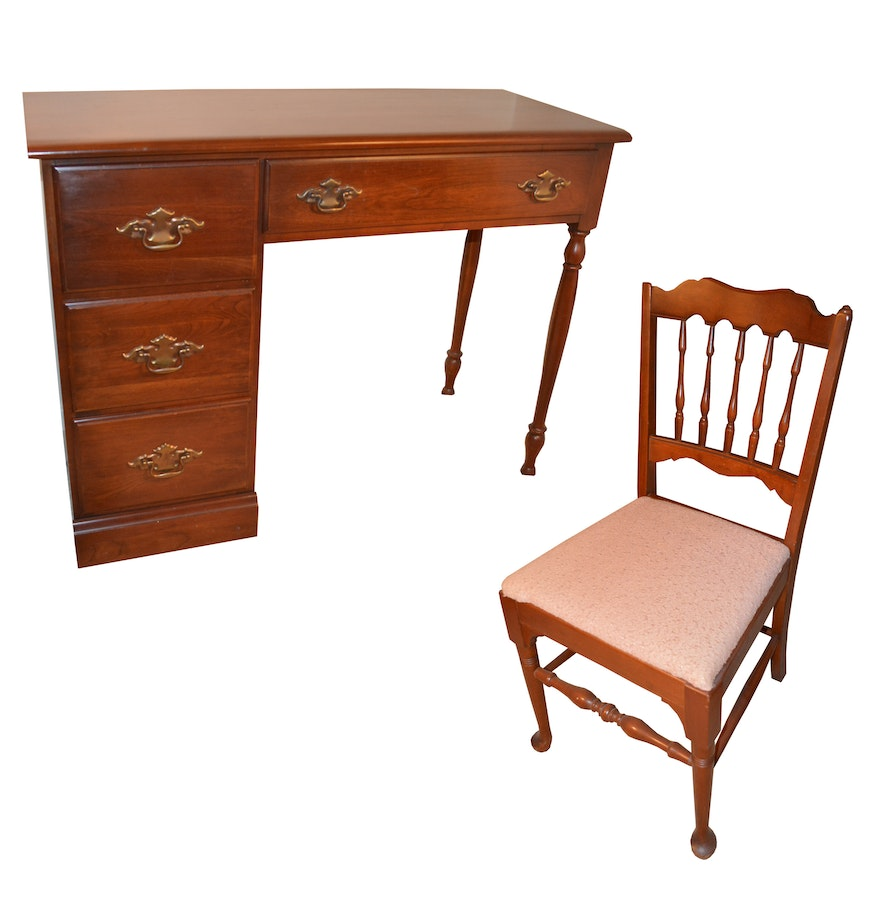 Cherry House Writing Desk With Chair By Young Hinkle