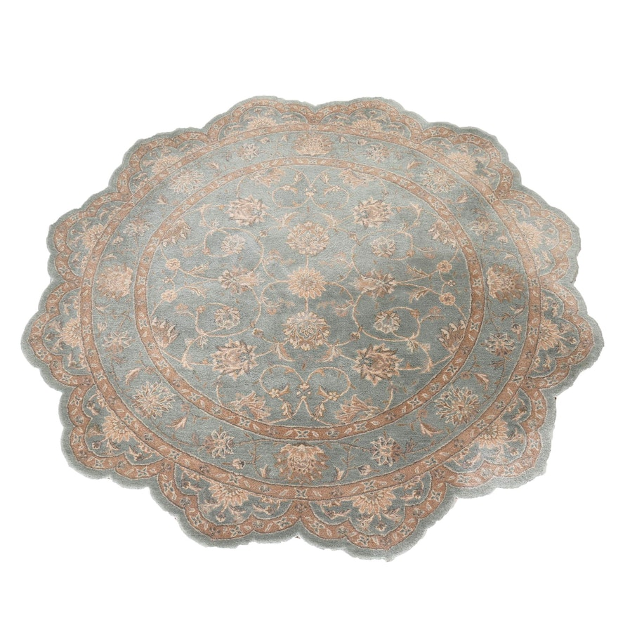 Scalloped Round Rug Uniquely Modern Rugs