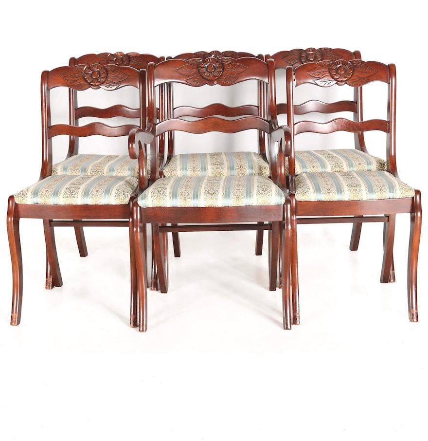 Vintage classical style dining chairs by tell city chair for Sofa chair company