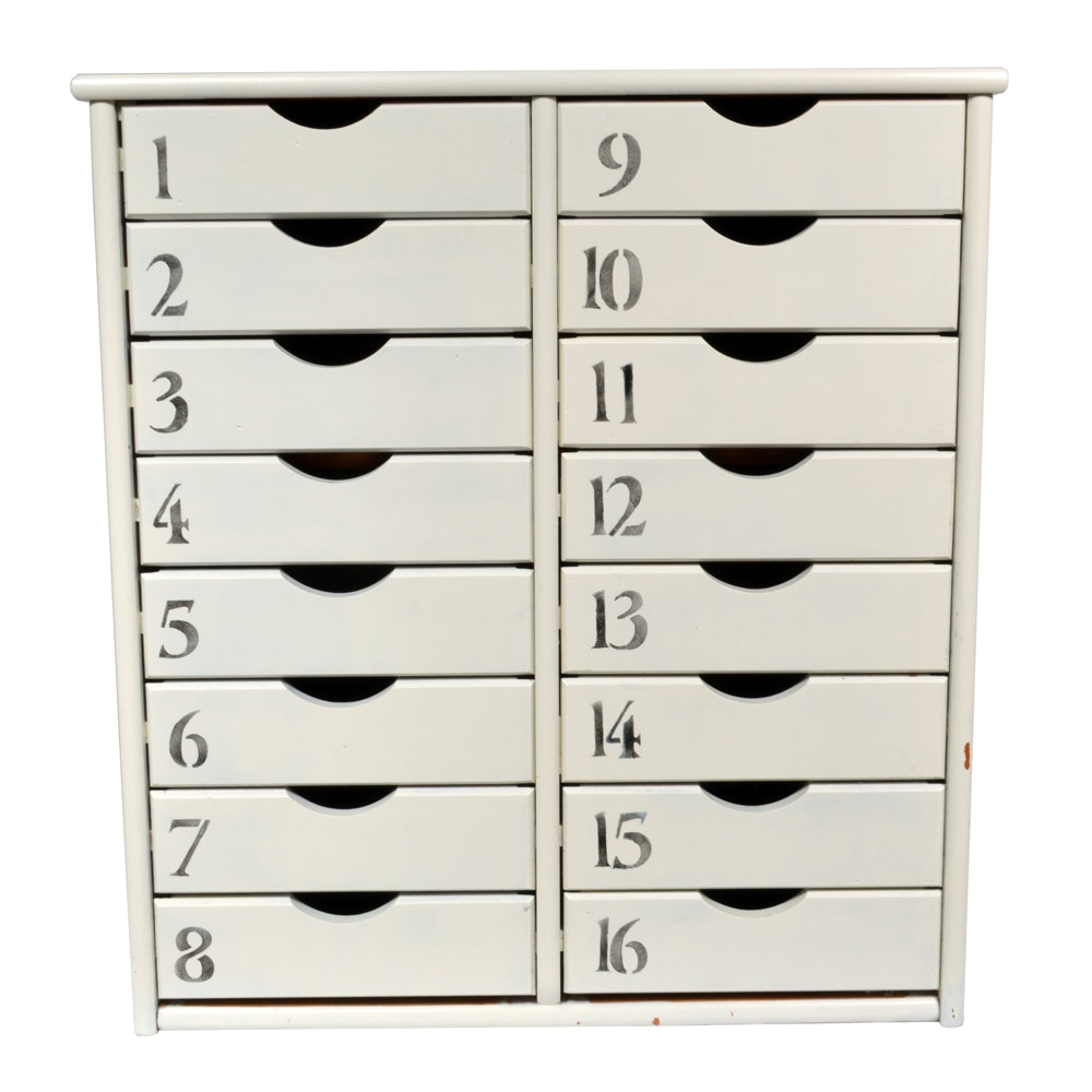 Storage Cabinet With Numbered Drawers