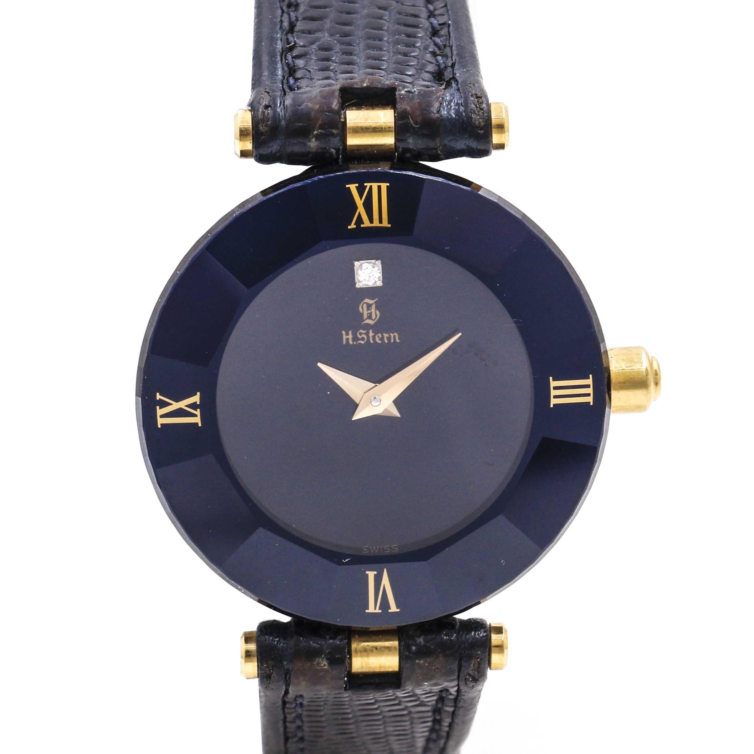 H. Stern Black Museum Dial Wristwatch