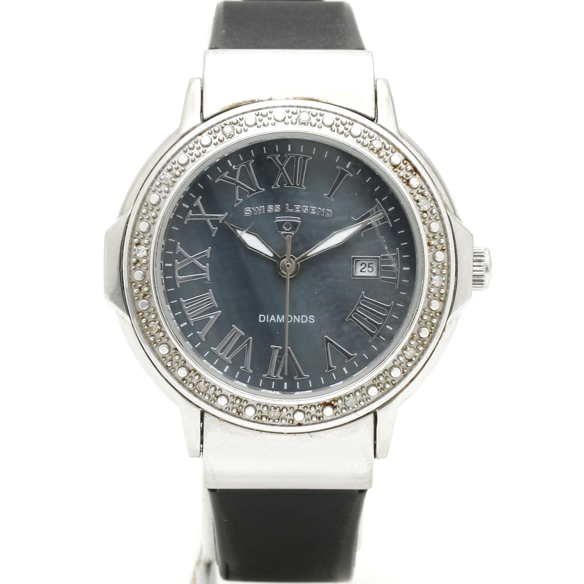 Swiss Legend Diamond Wristwatch