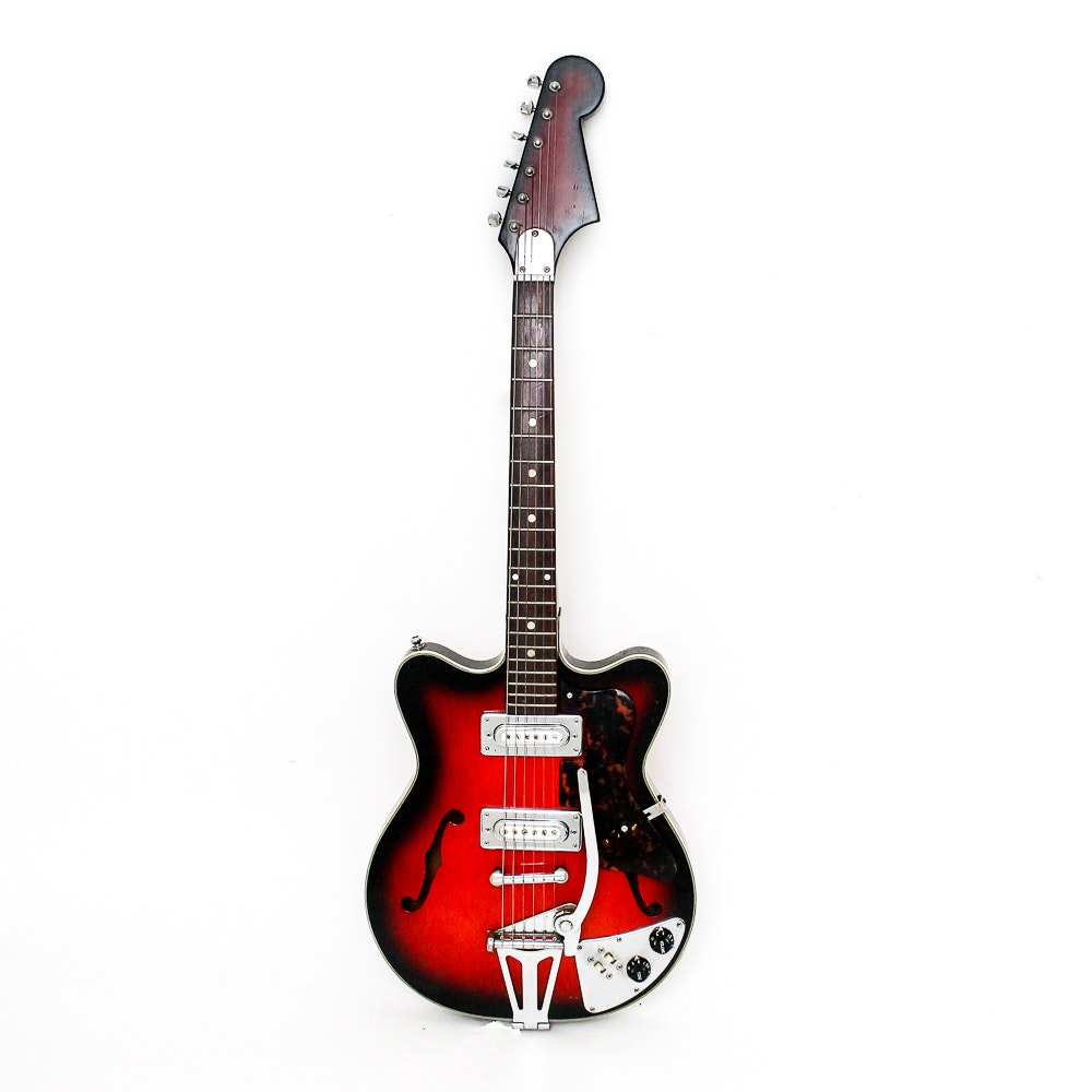 Vintage Japanese Semi Hollow Body Electric Guitar Ebth