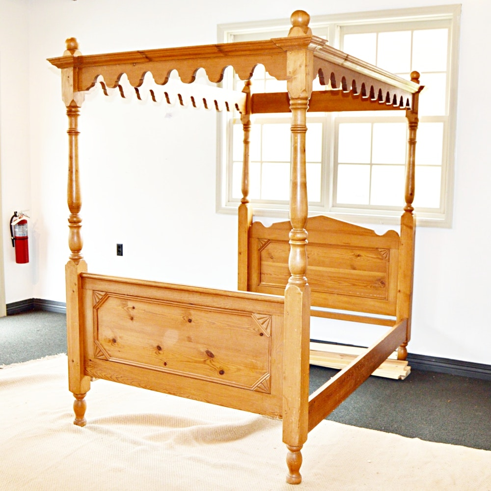four poster full size canopy bed ebth