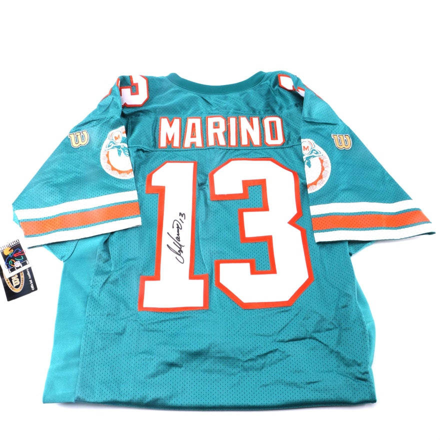 timeless design 19a18 dfe21 Dan Marino Autographed Miami Dolphins Football Jersey