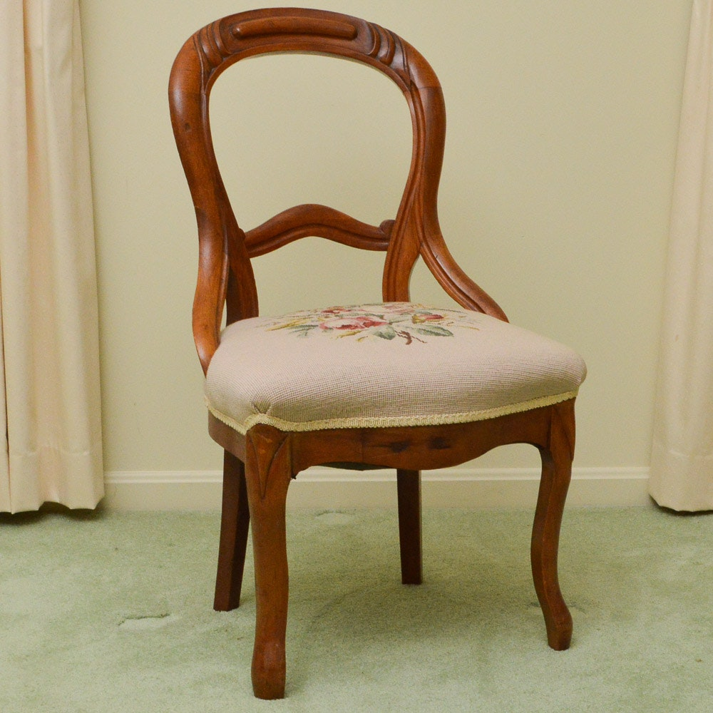 Great Victorian Style Needlepoint Chair ...
