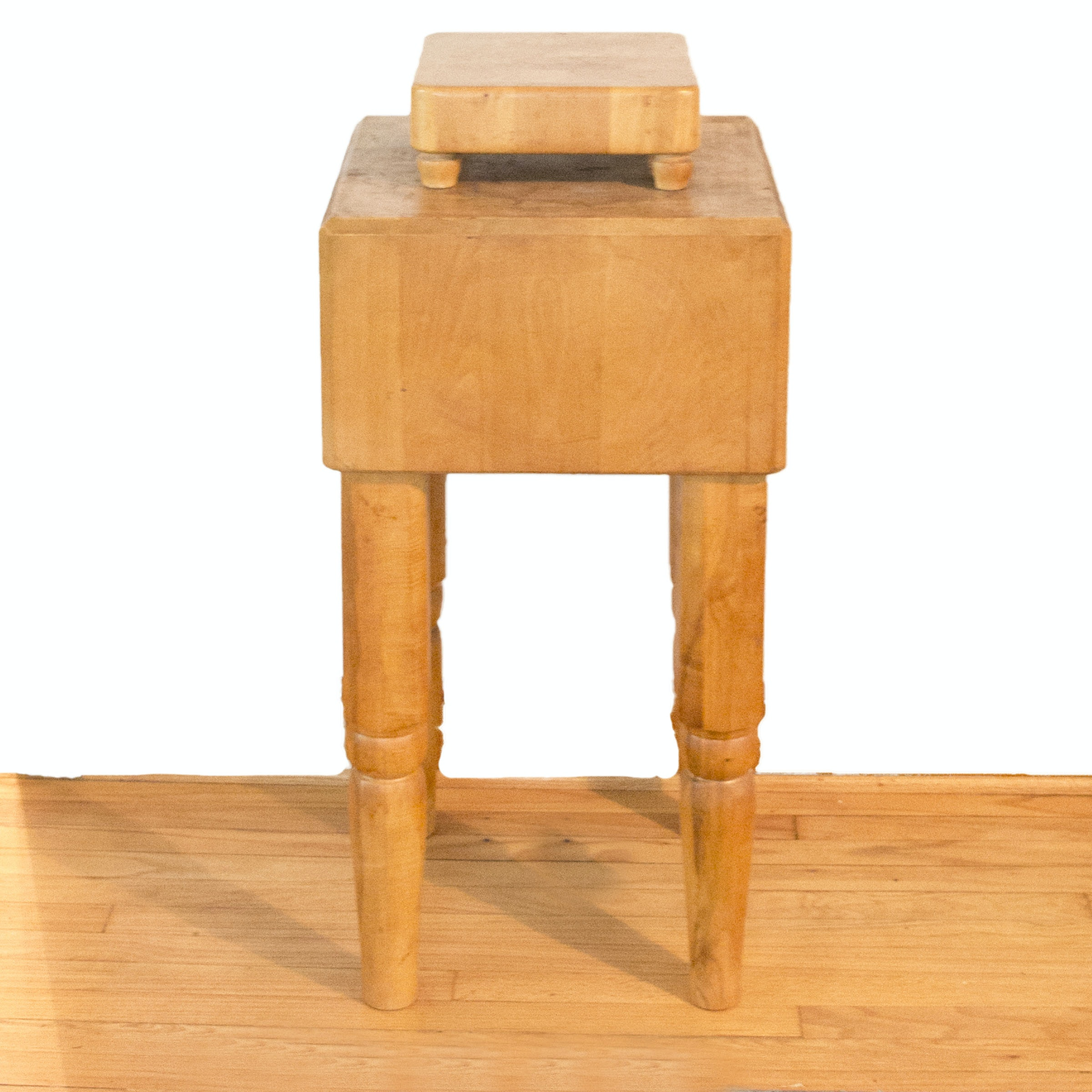 Butcher Block Table with Cutting Board