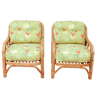 Rattan Chairs With Upholstered Cushions
