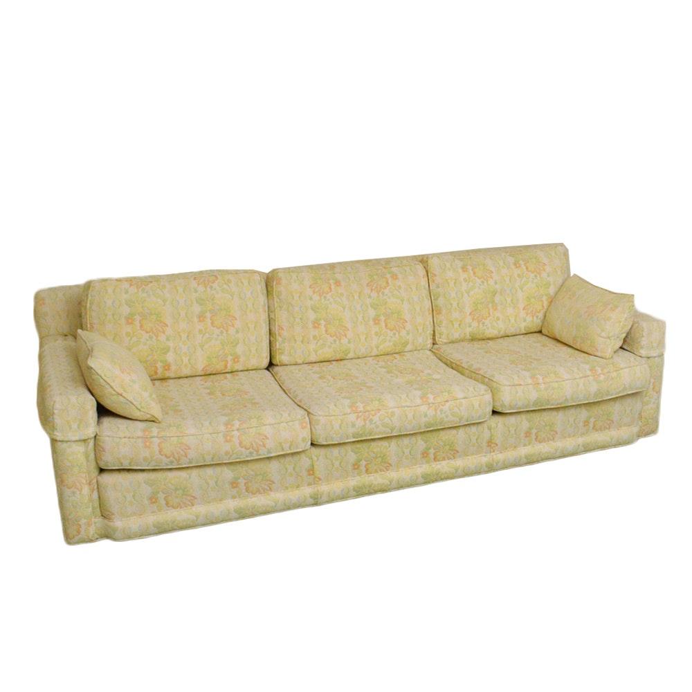 Circa 1974 Pistachio Floral Sofa By Marge Carson ...