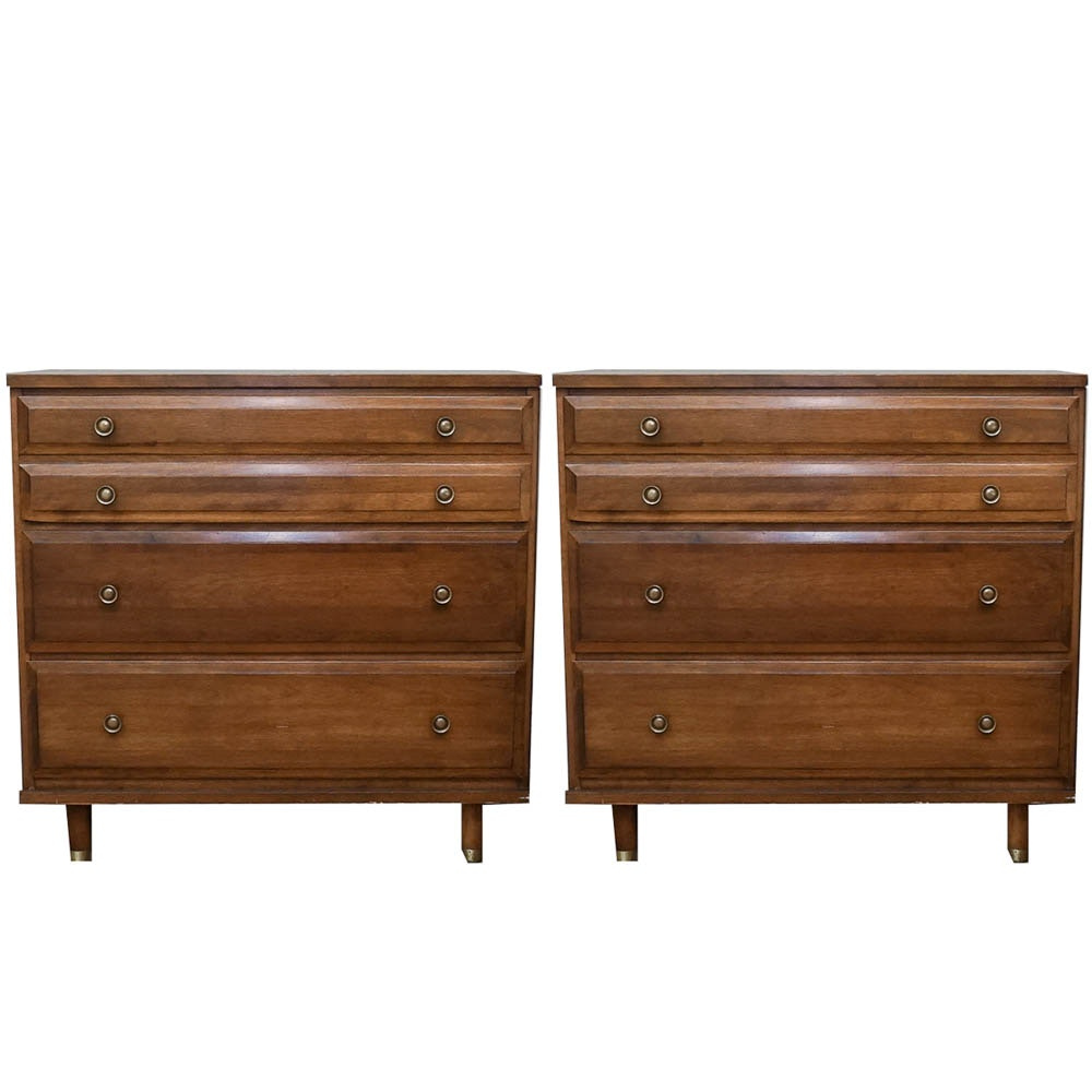 Mid 20th Century Walnut Stained Nightstands