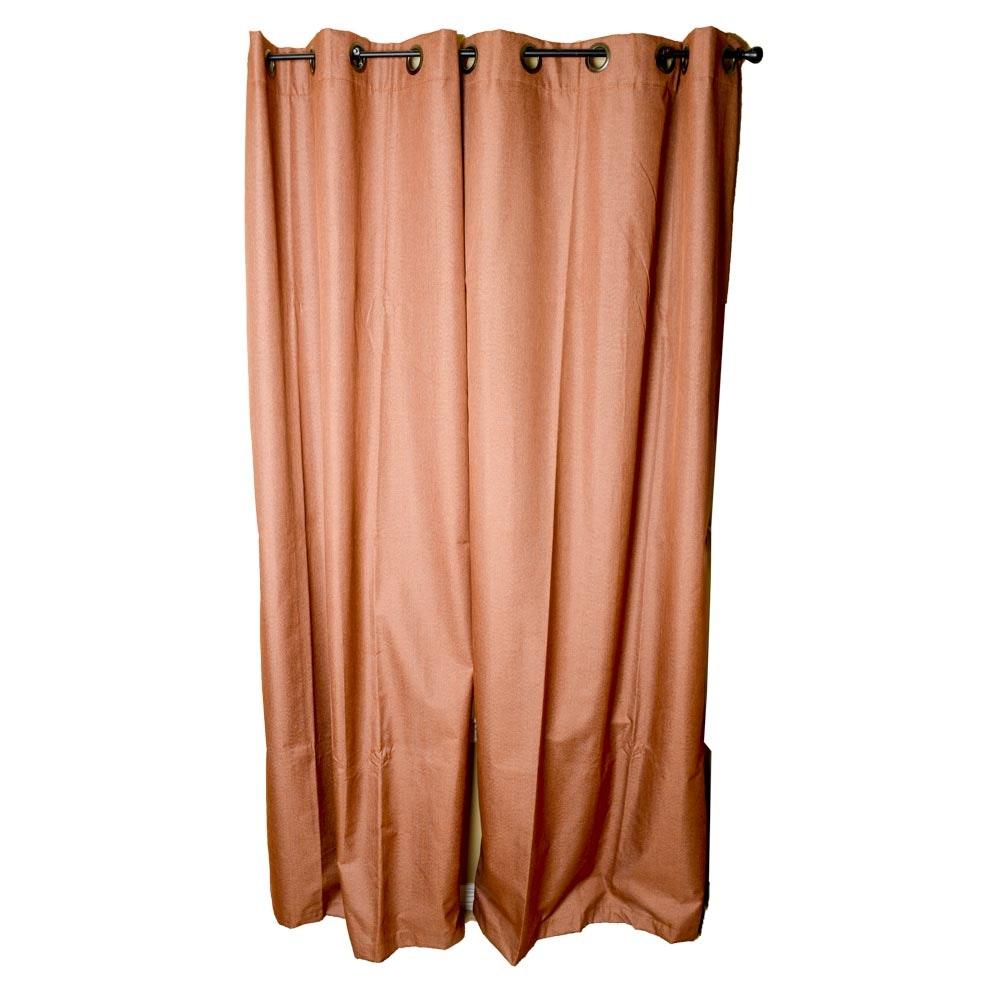 Rust Orange Curtain Panels ...