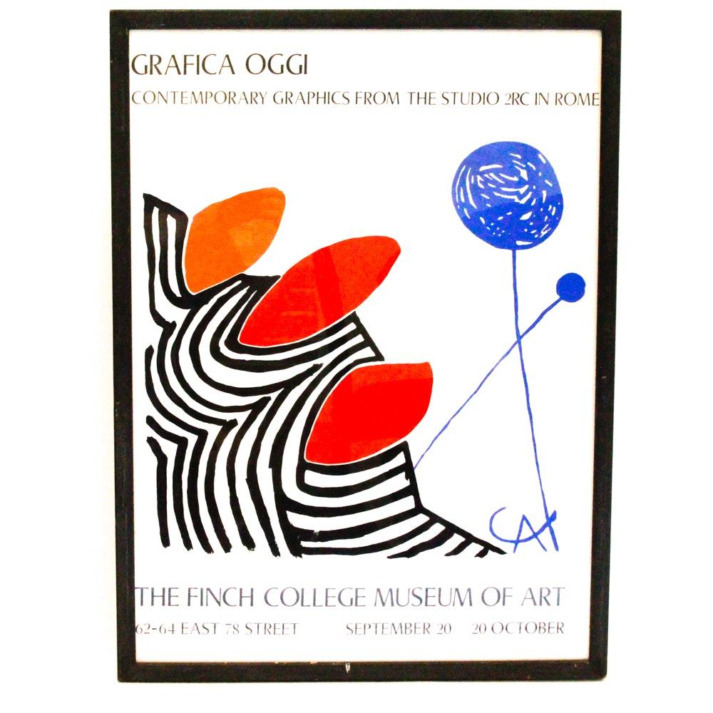 "Gallery Poster Reproduction Print After Alexander Calder's ""Presenza Grafica"""