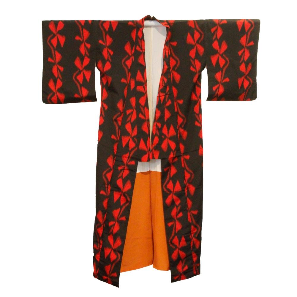 Pinwheel Patterned Omeshi Kimono