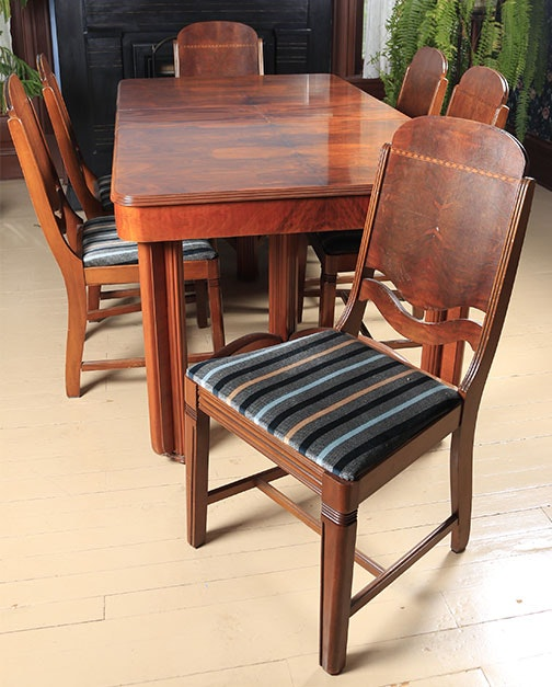 Art Deco Dinning Table and Chairs
