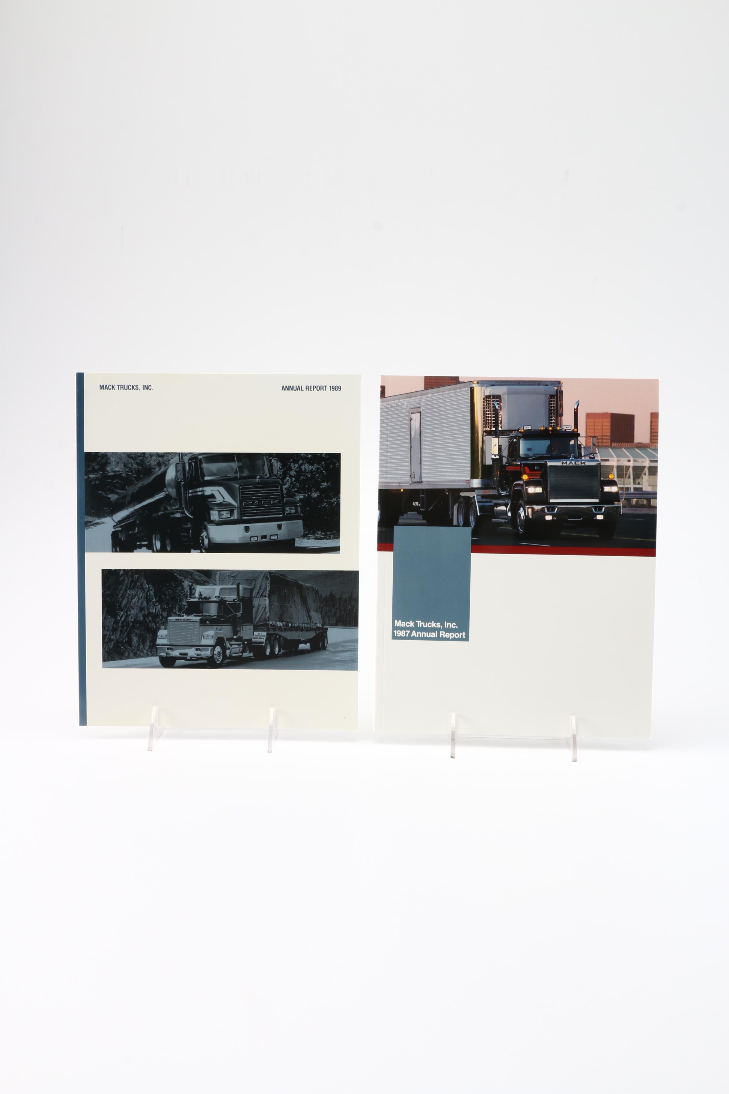 1987 and 1989 Mack Trucks, Inc. Annual Reports