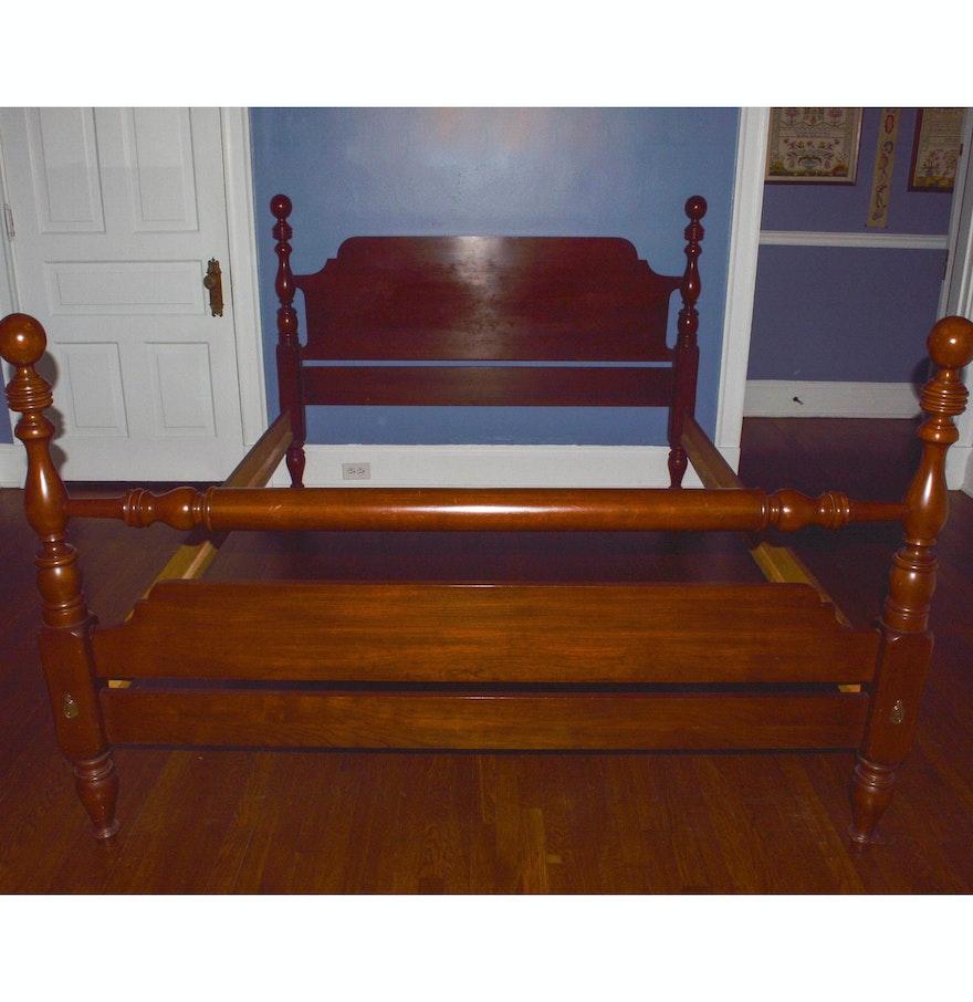 solid black cherry queen bed frame by henkel harris - Cherry Queen Bed Frame