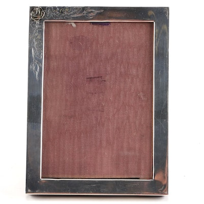 sterling silver picture frame with 18k inlay