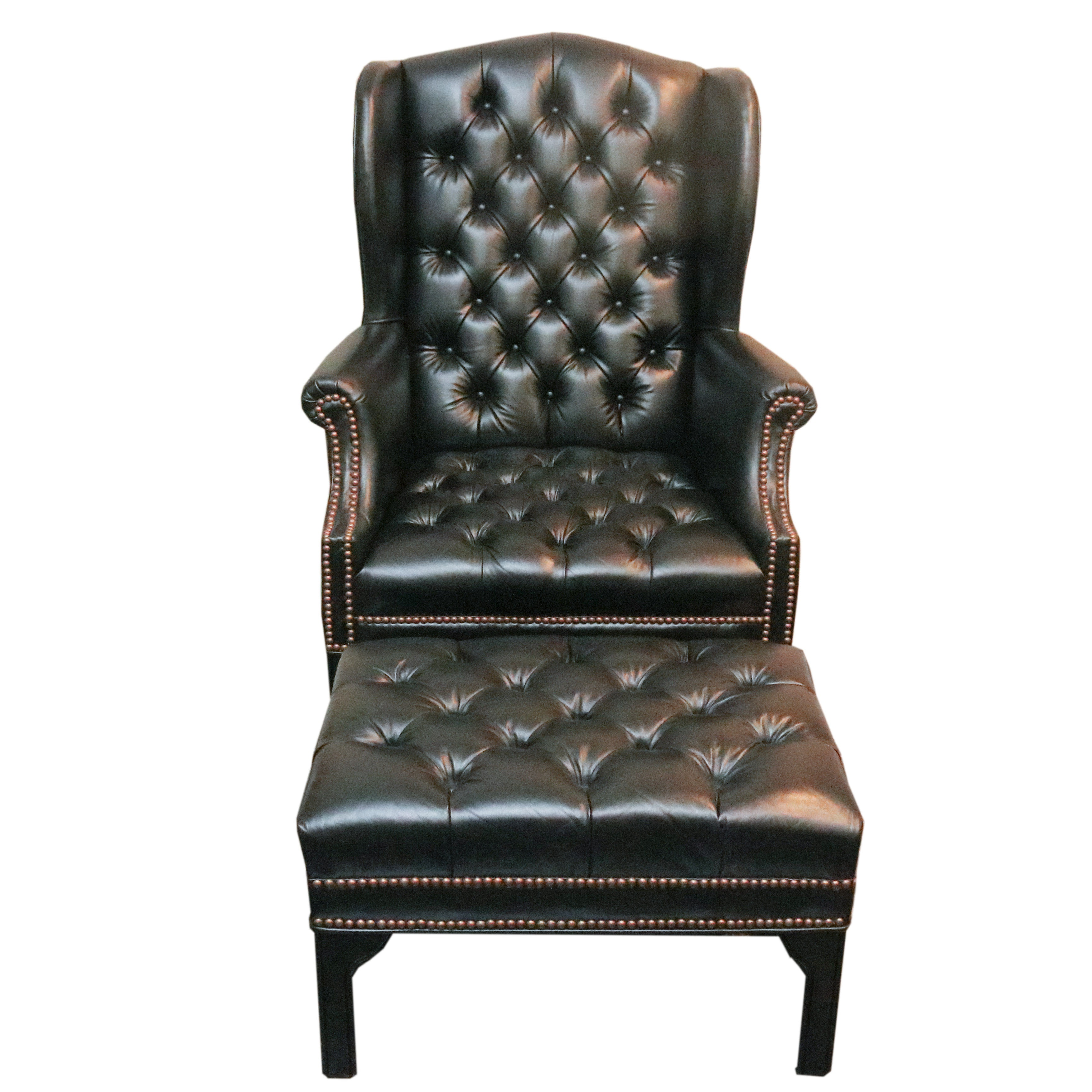 Awesome Fairfield Chair Company Wingback Chair And Ottoman ...