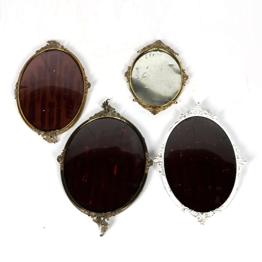 Victorian Antique Convex Large Oval Picture Frames : EBTH