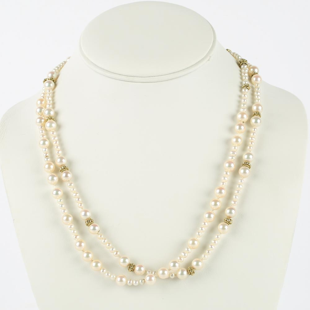 Orlanda Olsen 18K Gold and Pearl Necklace
