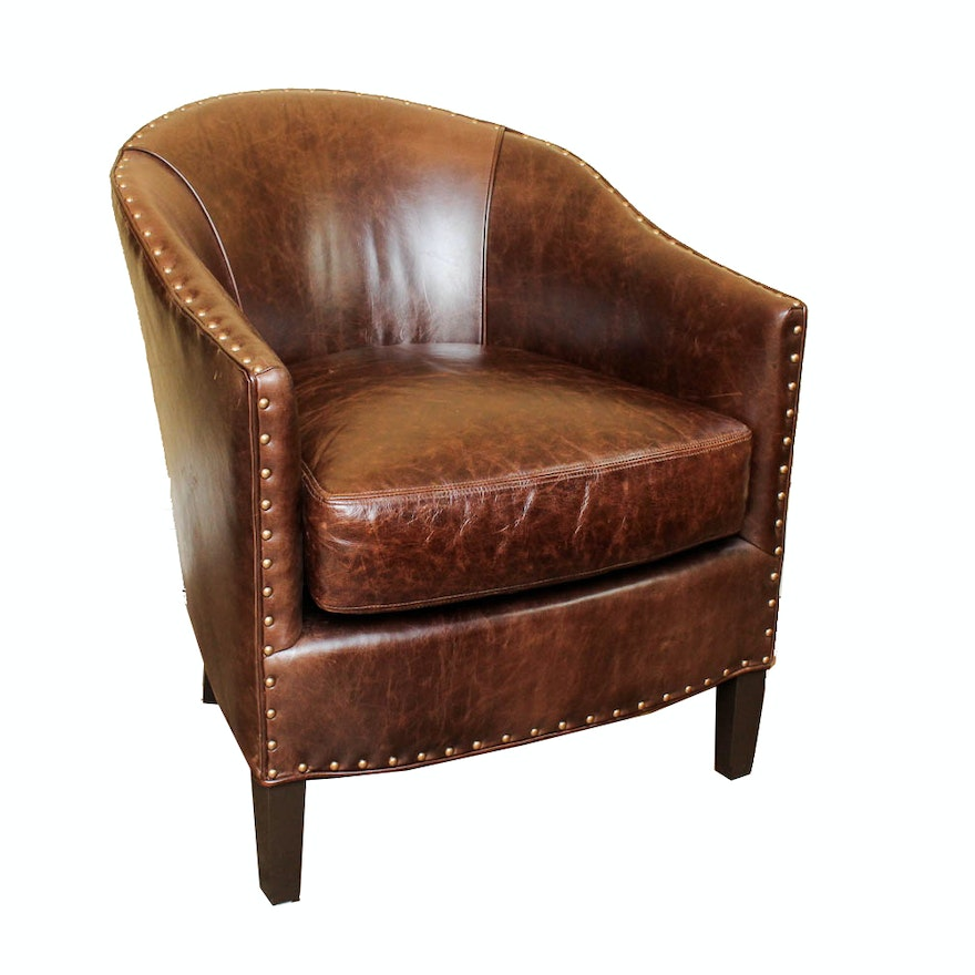 Super Arhaus Giles Leather Club Chair Onthecornerstone Fun Painted Chair Ideas Images Onthecornerstoneorg