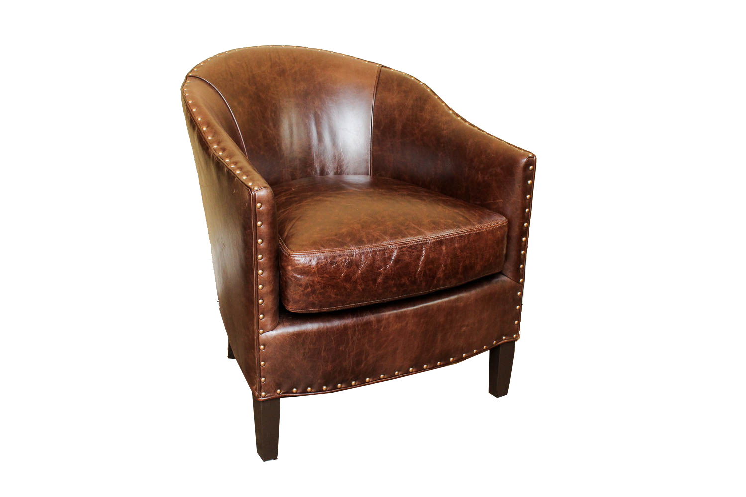 Arhaus u0026quot;Gilesu0026quot; Leather Club Chair : EBTH