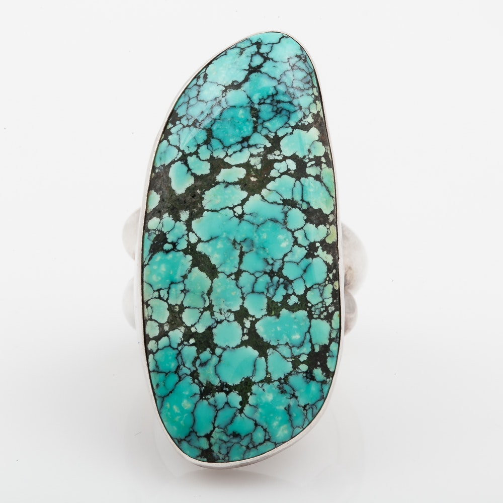 Sterling Silver and Turquoise Statement Ring