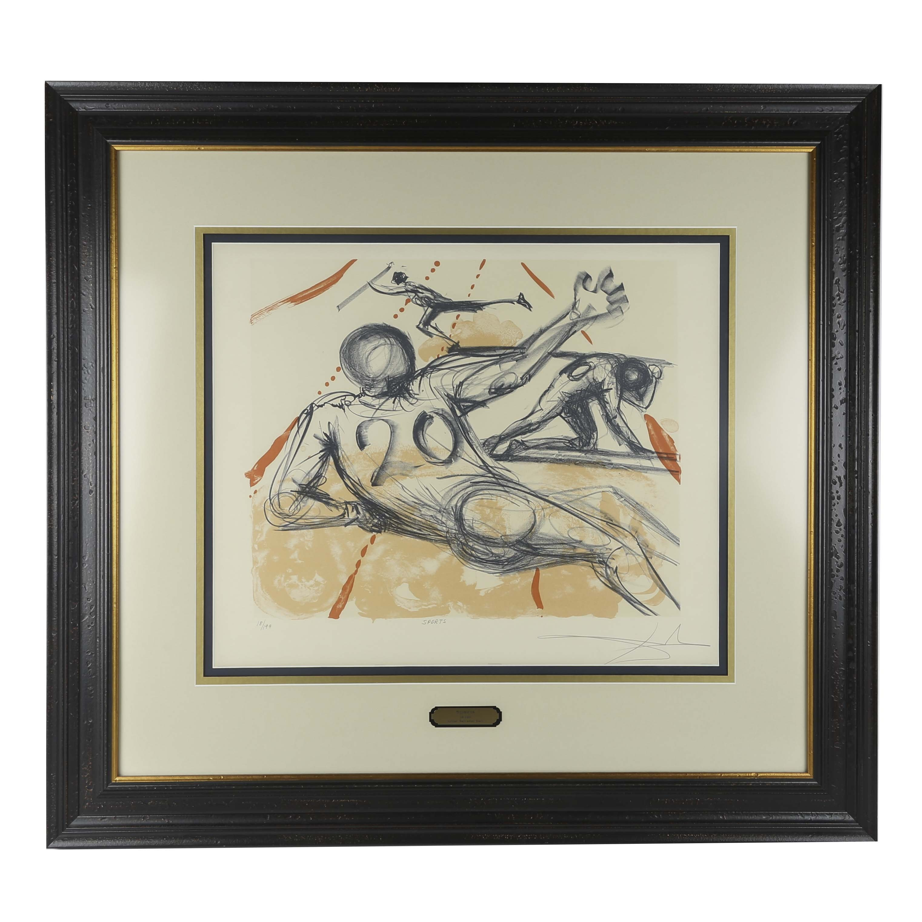 """Salvador Dalí Limited Edition Lithograph """"Sports"""""""