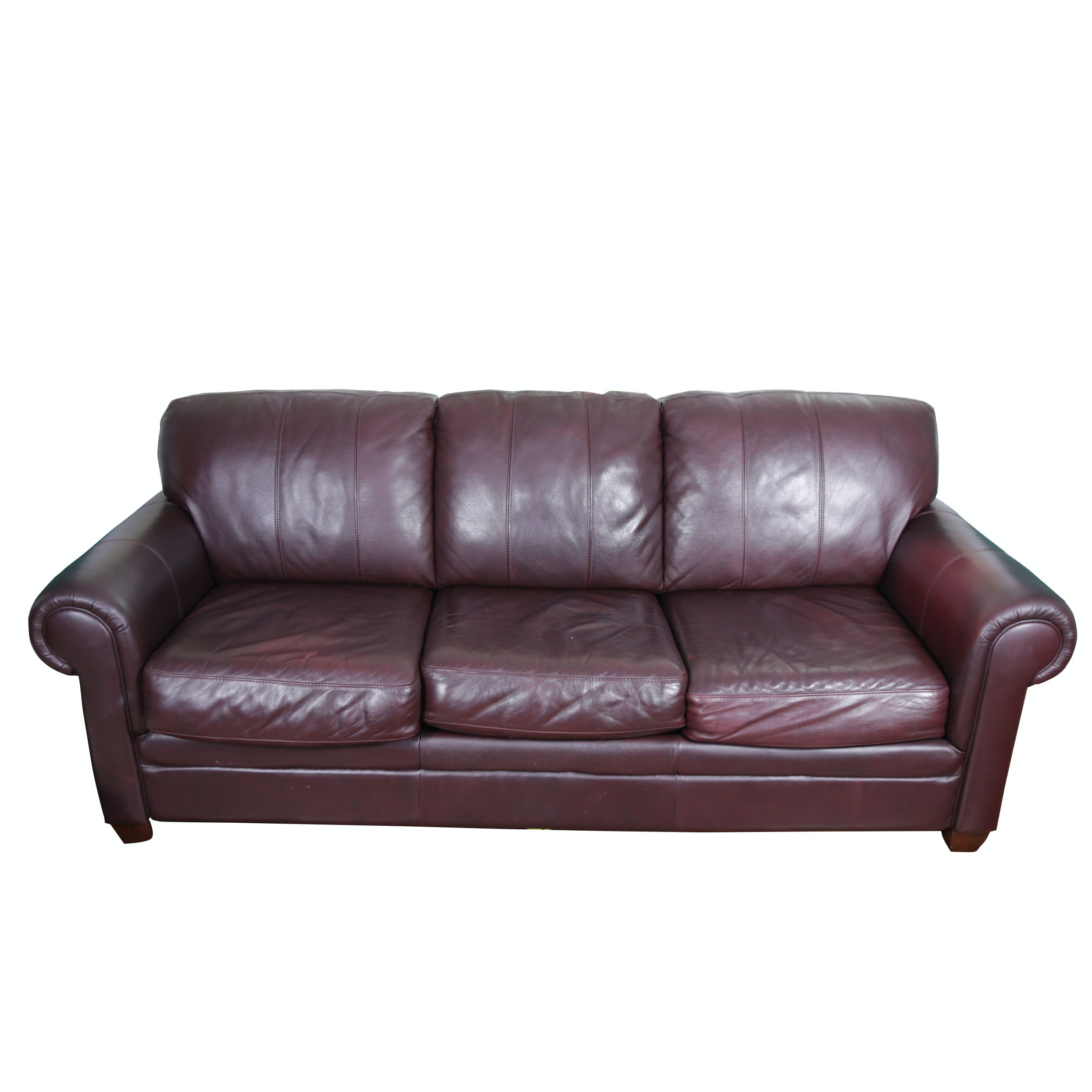 Morse Furniture Faux Leather Sofa