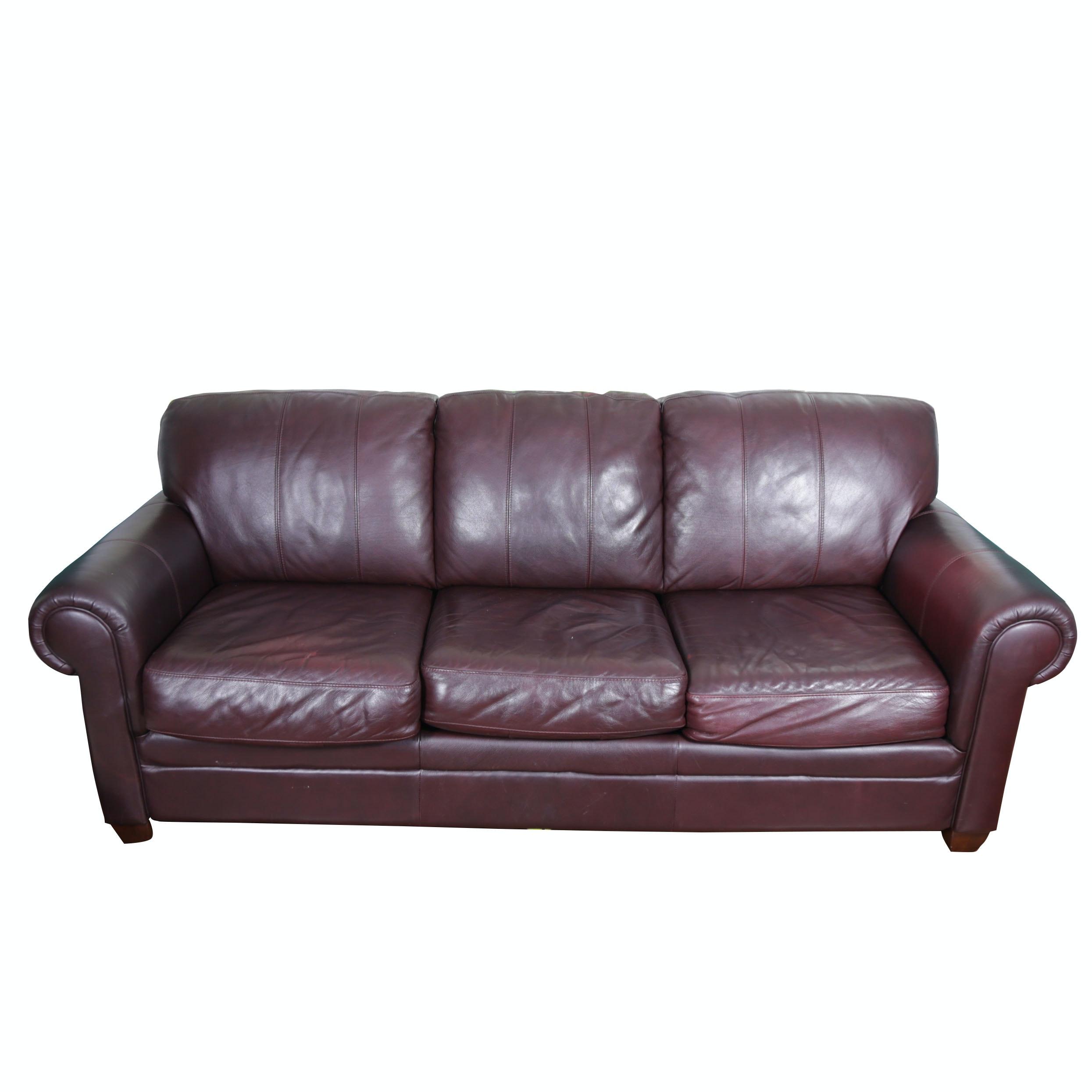 Charmant Morse Furniture Faux Leather Sofa ...