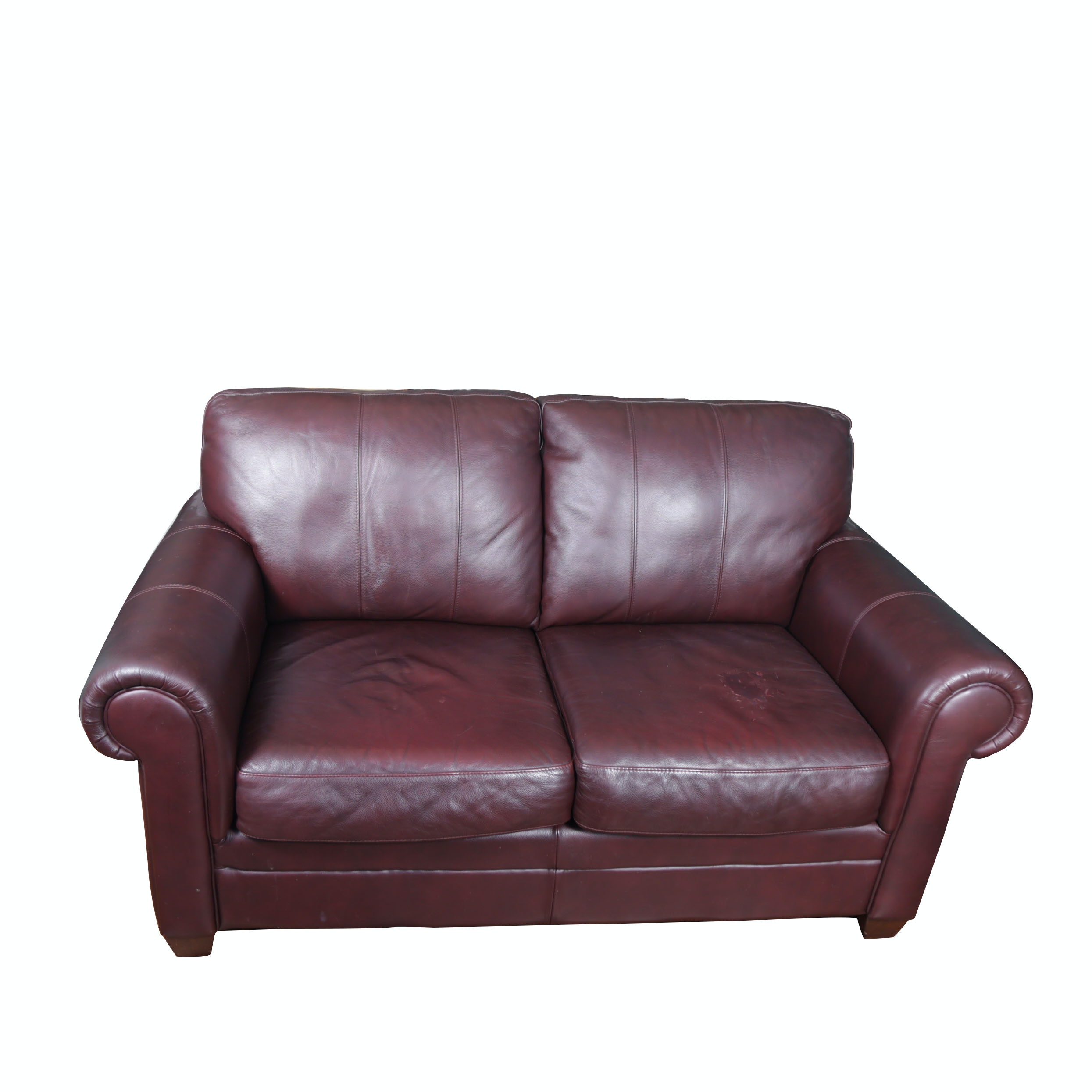 Morse Furniture Faux Leather Love Seat