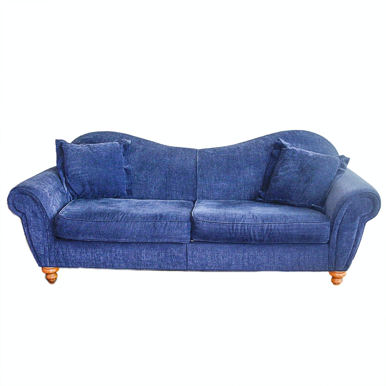 Contemporary Sapphire Blue Sofa