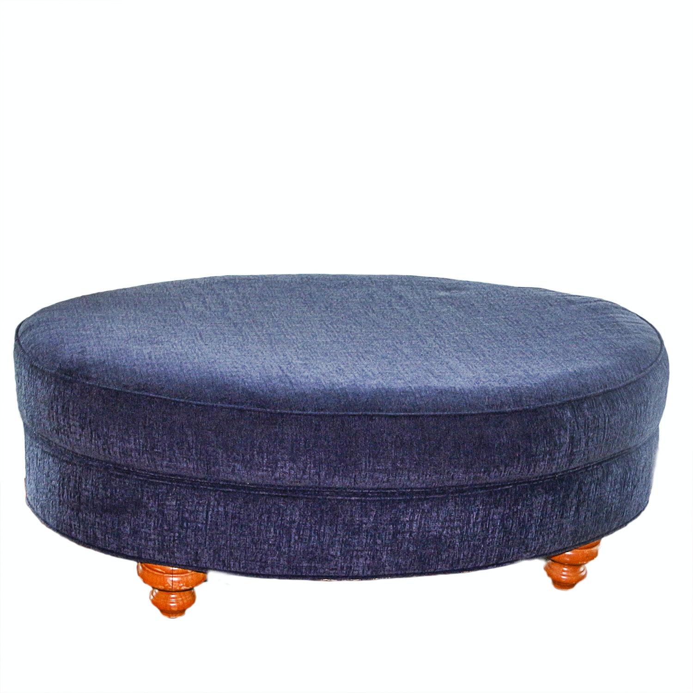 Sapphire Blue Ottoman