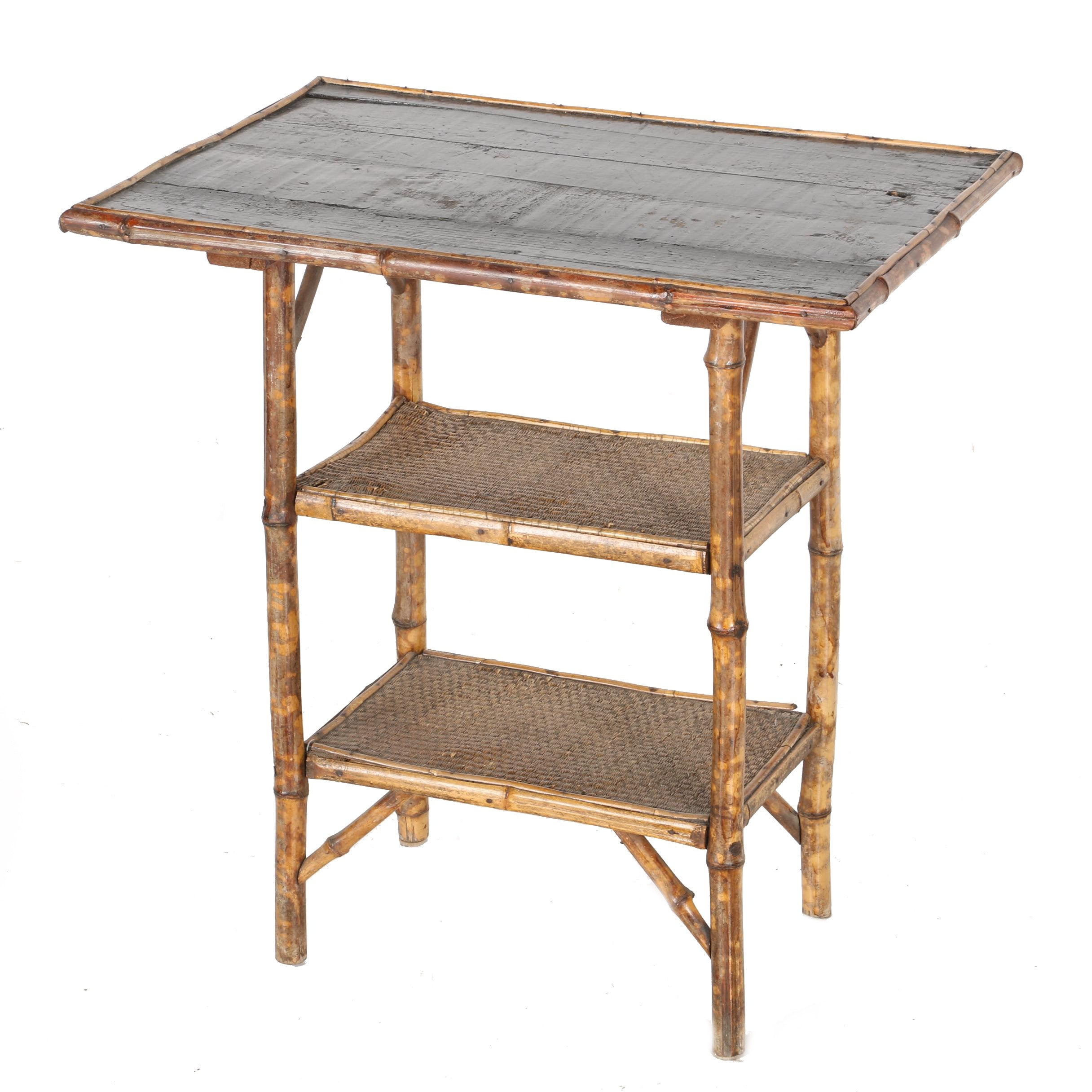 Vintage English Bamboo Accent Table ...