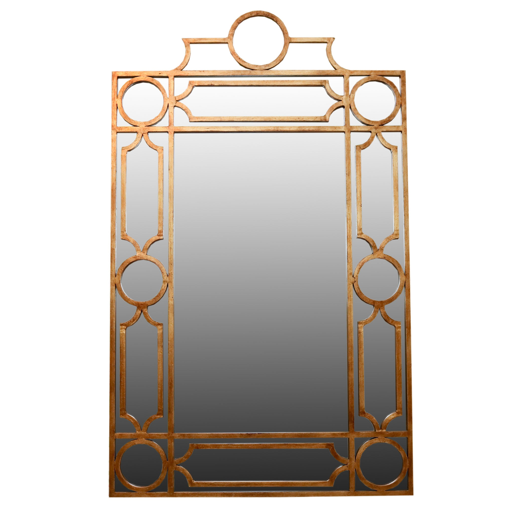 Brass Tone Wall Mirror