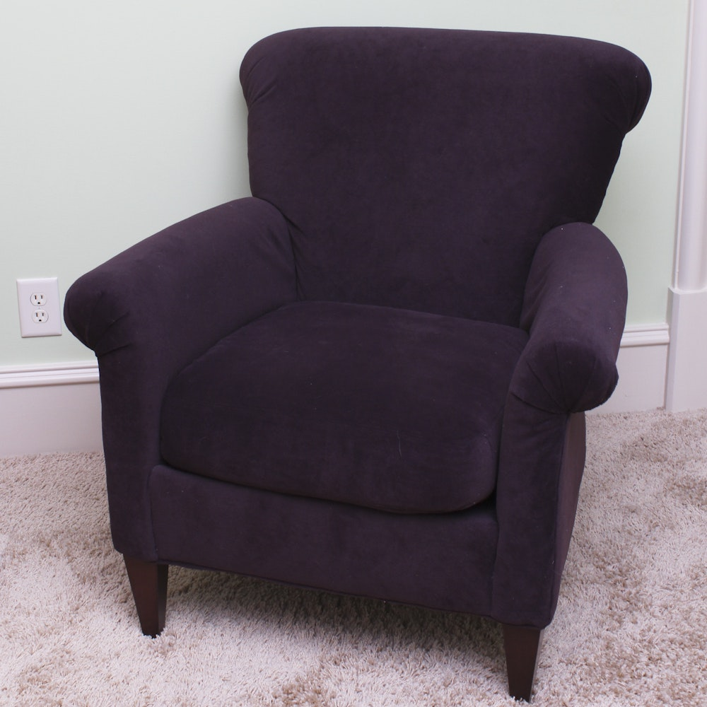 Plush Purple Armchair By Rowe Furniture ...