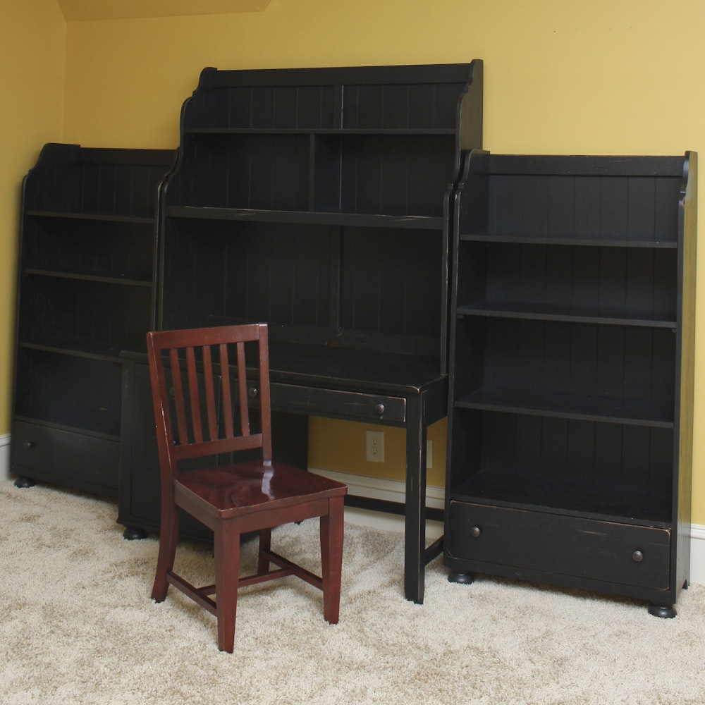 Broyhill Quot Attic Heirlooms Quot Desk And Bookcases With Side