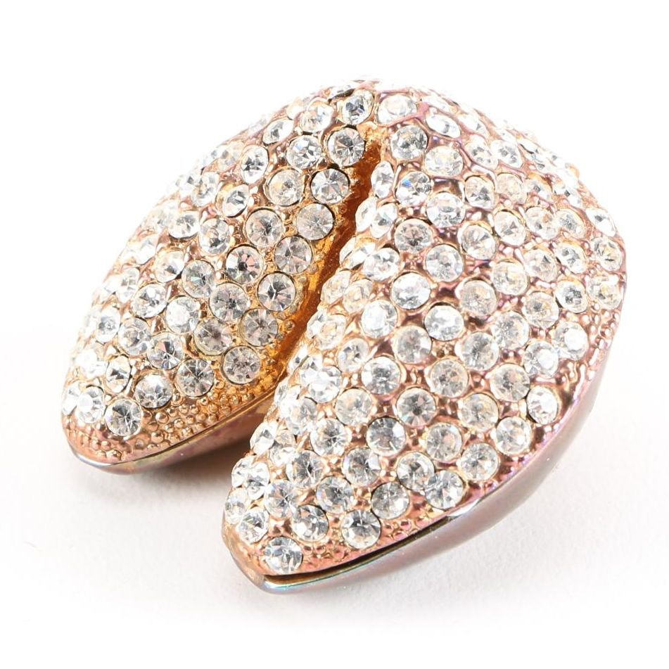 Rhinestone and Enamel Fortune Cookie Trinket Box