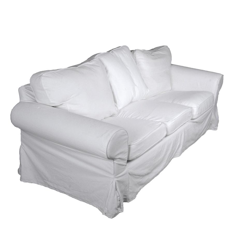 Tremendous Ikea Ektorp White Slip Covered Sofa Uwap Interior Chair Design Uwaporg