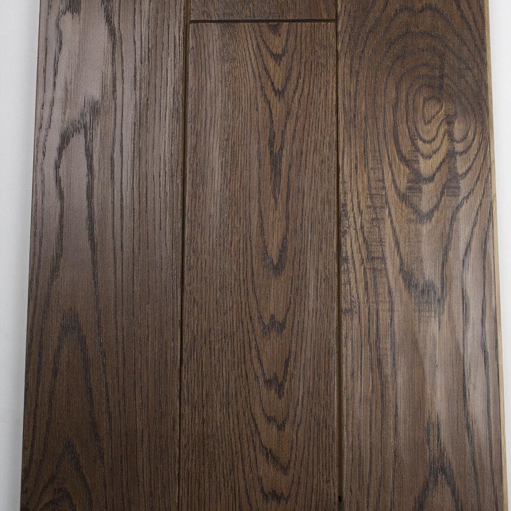 Hand shaved oak flooring