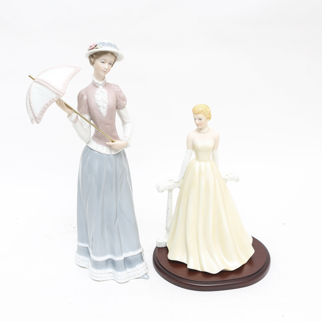 Home interiors grace patricia and lady catharine figurines