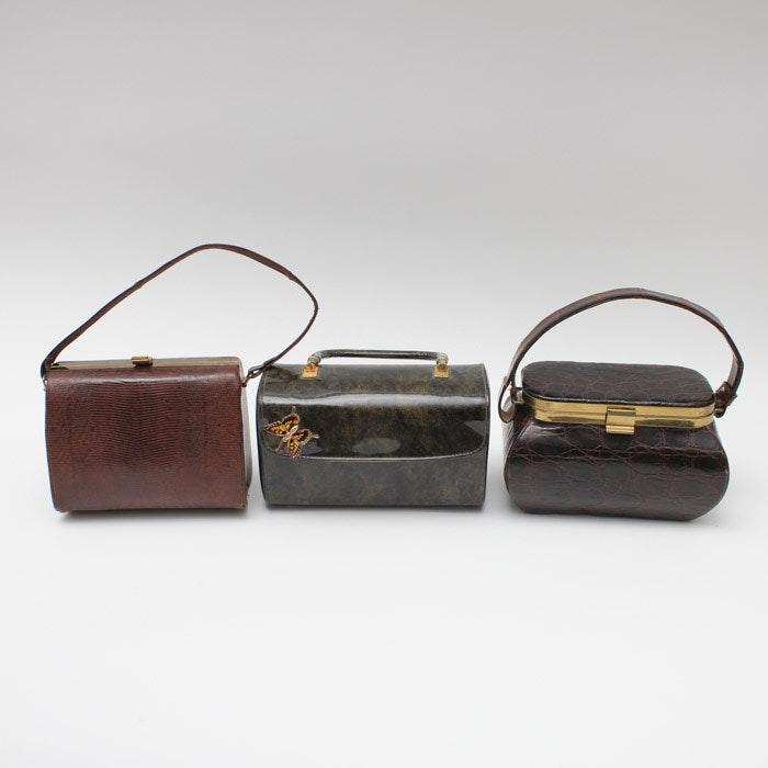 Collection of Brown Handbags