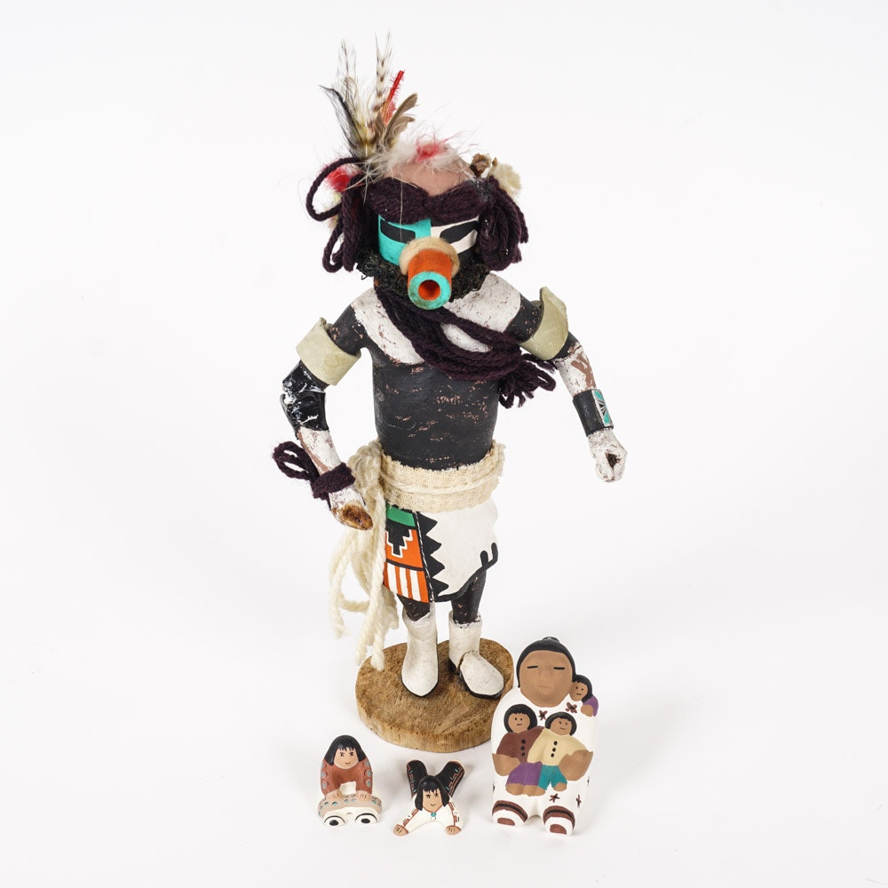 Kachina Doll and Storyteller Figurines